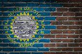 Dark Brick Wall - South Dakota