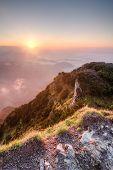 Sunrise On Summer Mountain Ridge - Slovakia