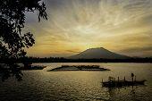 Fiery Sunrise River