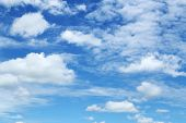 Abstract Blue Sky Background