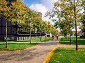 Autumn In The Sittard City. Day View Of Neighborhood Street. Limburg. Netherlands