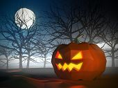 Low poly Halloween scene