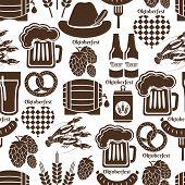 Oktoberfest seamless background pattern