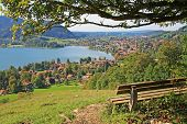 Viewpoint With Bench, Lake Schliersee, Germany