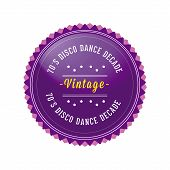 70´s Vintage, Retro Style Badge