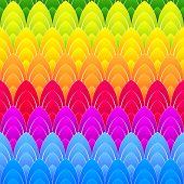 Background With Rainbow Ellipses