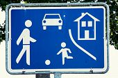 stock photo of traffic rules  - Residential zone sign - JPG