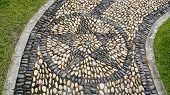 Stone Path Walkway In Garden - Peaceful Rock Stone Massage Relaxing