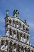 Detail Of The San Michele In Foro In Lucca
