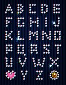 Diamond light pixel font