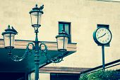 Lantern On The Facade Of Old Italian House. Venice
