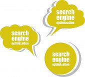 Search Engine Optimization. Set Of Stickers, Labels, Tags. Business Banners, Template For Infographi