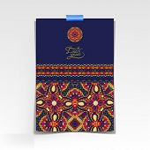 decorative sheet of paper with oriental floral design