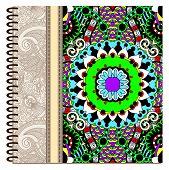design of spiral ornamental notebook cover