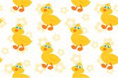seamless background with yellow duck