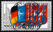 Postage Stamp Germany 1980 Flags Of Nato And Members