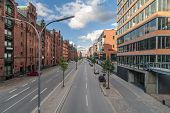 The prospect of the business streets in Hamburg