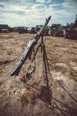 Old vintage machine gun