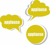 image of applause  - applause word on modern banner design template - JPG