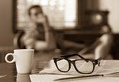 Cup Of Coffee Newspaper Man