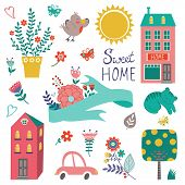 Cute home sweet home collection
