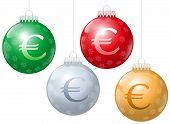 Christmas Balls Euro Symbol