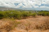 Diamond Head State Monument Park Trail Close Honolulu On Oahu Hawaii