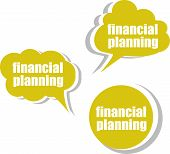 Financial Planning. Set Of Stickers, Labels, Tags. Business Banners, Template For Infographics