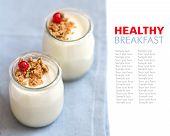 Jars Of Fresh Natural Yogurt