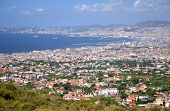 stock photo of breathtaking  - Breathtaking picturesque landscape of Naples and Gulf of Naples - JPG
