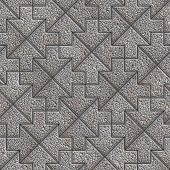 Gray Granular Mosaic Paving Slab
