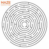 Circular Maze With Solution In Eps