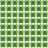 Green-Yellow-White Small Butterfly Pattern