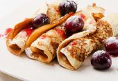 Pancakes With Cherries