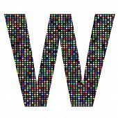 Multicolor Letter W