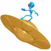 Alien Surfing UFO