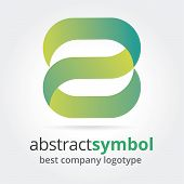 Abstract vector logotype concept