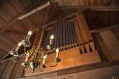 Organ Pipes With Luminaire