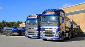 New Volvo FH Tank Trucks On A Yard