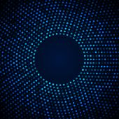 Abstract Circular Blue Background.