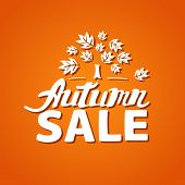 Autumn sale - hand drawn lettering