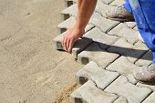 Laying Interlocking Pavers