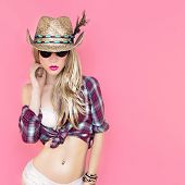 party in cowboy style sexy girl