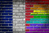 Dark Brick Wall - Lgbt Rights - France