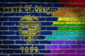 Dark Brick Wall - Lgbt Rights - Oregon