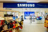 ASTRAKHAN, RUSSIA - AUG 16, 2014: Samsung shop at local mall.
