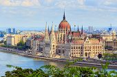 foto of hungarian  - Budapest and Danube river panoramic view Hungary Europe