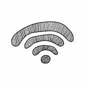 Wi-Fi doodle sign
