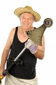Gardener With Whipper Snipper