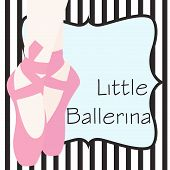 image of ankle shoes  - ballet shoes background illustration in vector background - JPG